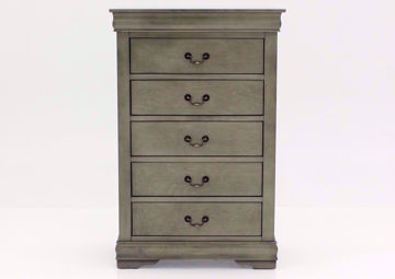 Picture of Louis Philippe Chest of Drawers - Gray