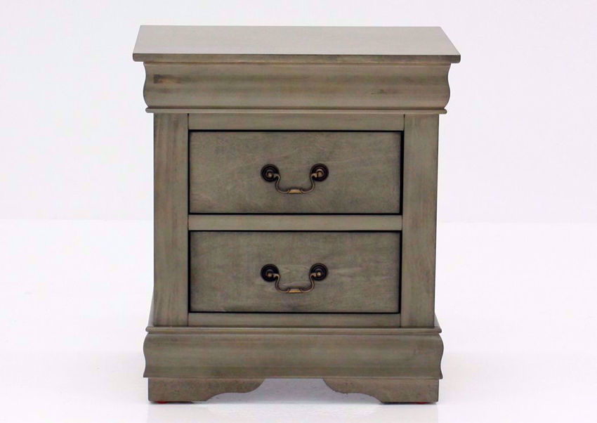 Gray Louis Philippe Nightstand Facing Front | Home Furniture Plus Mattress