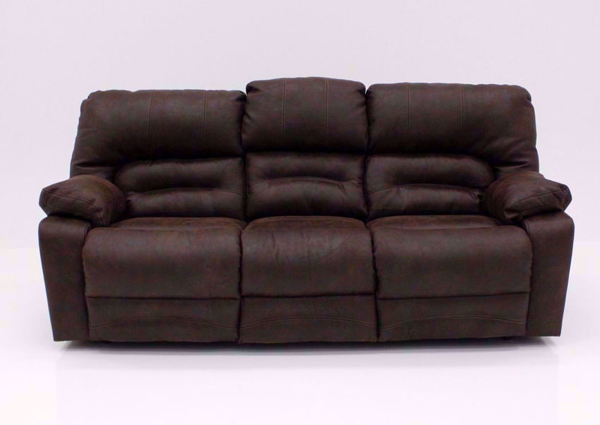 Brown Legacy POWER Reclining Sofa, Front Facing | Home Furniture Plus Bedding