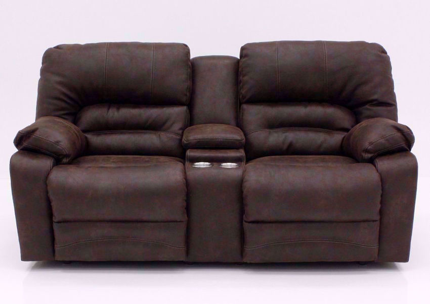 Brown Legacy Reclining Loveseat, Front Facing | Home Furniture Plus Mattress
