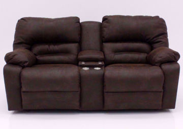 Brown Legacy POWER Reclining Loveseat, Front Facing | Home Furniture Plus Mattress