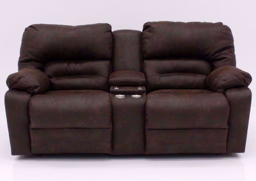 Brown Legacy POWER Reclining Loveseat, Front Facing | Home Furniture Plus Bedding