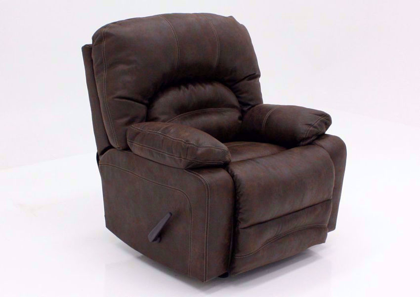 Brown Legacy Rocker Recliner at an Angle | Home Furniture Plus Mattress