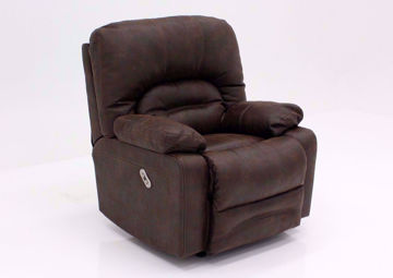 Brown Legacy POWER Rocker Recliner at an Angle | Home Furniture Plus Mattress