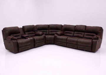 Brown Legacy Reclining Sectional Sofa, Front Facing | Home Furniture Plus Mattress