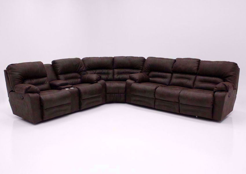 Legacy Reclining Sectional Sofa Brown
