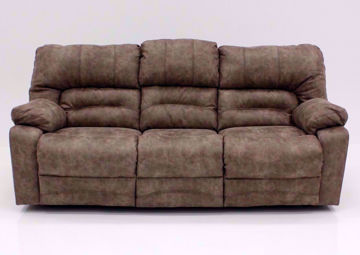 Legacy POWER Reclining Sofa, Tan, Front Facing | Home Furniture Plus Mattress