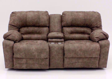 Tan Legacy POWER Reclining Loveseat, Front Facing | Home Furniture Plus Mattress