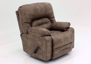 Legacy Rocker Recliner, Tan, Angle | Home Furniture Plus Mattress