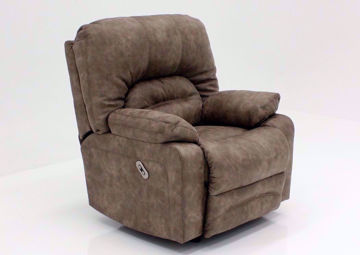 Legacy POWER Rocker Recliner, Tan, Angle | Home Furniture Plus Mattress
