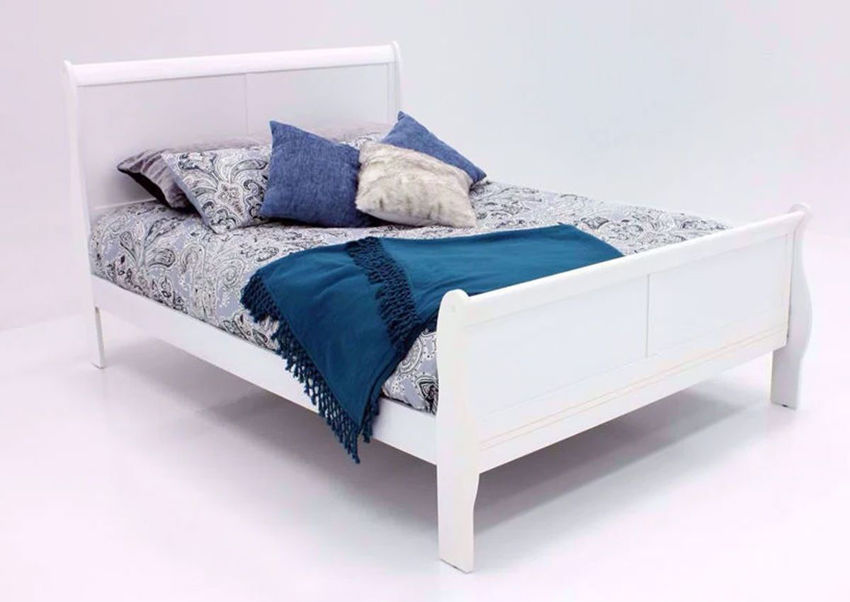 Picture of Louis Philippe Queen Size Bed - White
