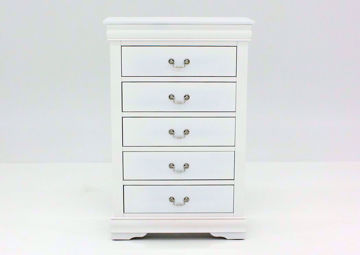 Louis Philippe Chest of Drawers, White, Front Facing | Home Furniture Plus Bedding