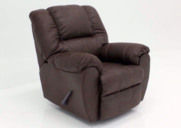 Dark Walnut Brown McGann Rocker Recliner by Ashley Furniture | Home Furniture Plus Bedding