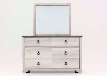 Driftwood Gray Patterson Dresser and Mirror Facing Front | Home Furniture Plus Mattress