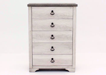 Driftwood Gray Patterson Chest of Drawers Facing Front | Home Furniture Plus Mattress