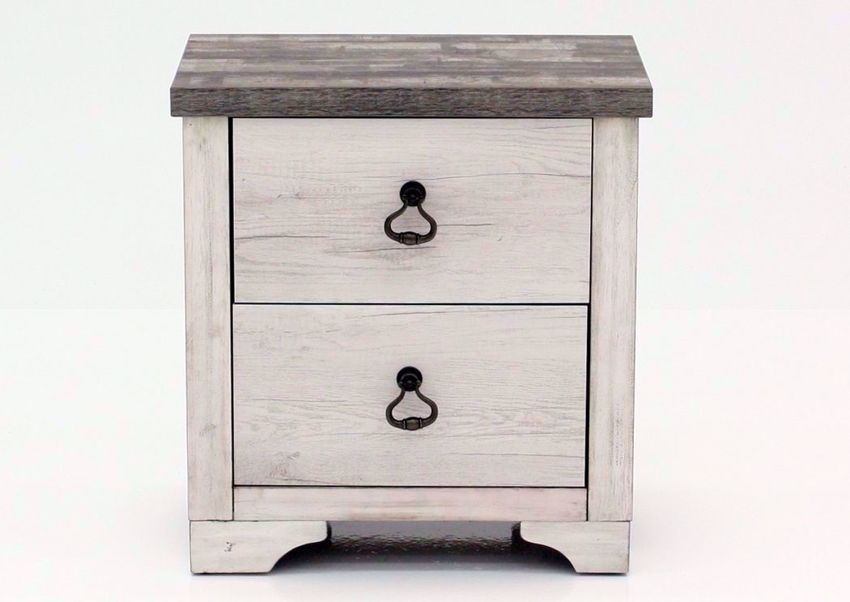 Driftwood Gray Patterson Nightstand Facing Front | Home Furniture Plus Mattress