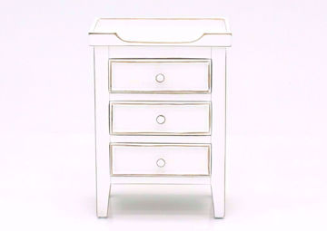 White Chatham 3 Drawer End Table, Front Facing | Home Furniture Plus Bedding