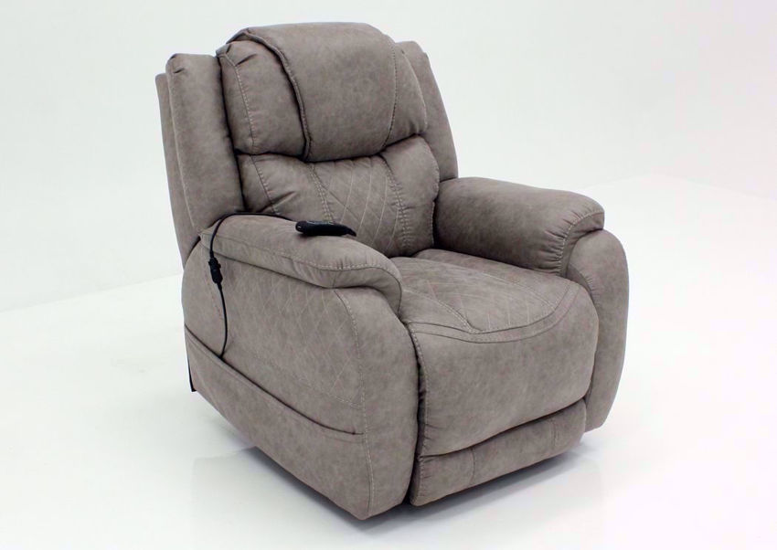 Soft Brown Daytona POWER Recliner at an Angle | Home Furniture Plus Bedding