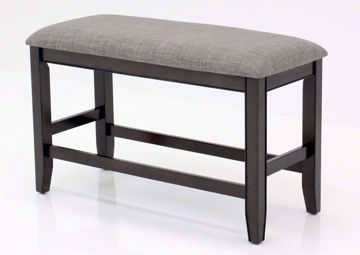 Fulton Pub-Style Bench, Gray, Angle | Home Furniture Plus Bedding