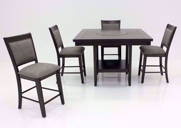 Dark Gray Fulton Counter Height Dining Set in a Room Setting | Home Furniture Plus Bedding