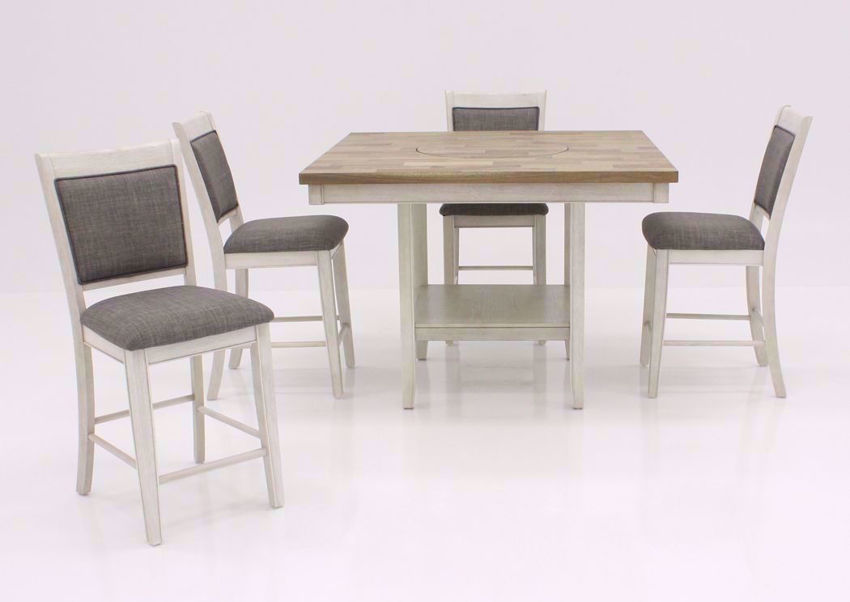 Rustic White Fulton Dining Set Facing Front | Home Furniture Plus Bedding