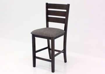 Bardstown Barstool, Gray, Angle | Home Furniture Plus Bedding