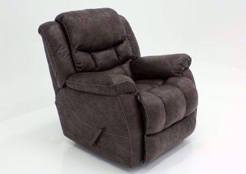 Dark Brown Wrangler Recliner at an Angle | Home Furniture Plus Bedding