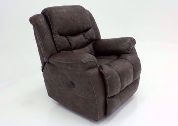 Dark Brown Wrangler POWER Recliner at an Angle | Home Furniture Plus Bedding