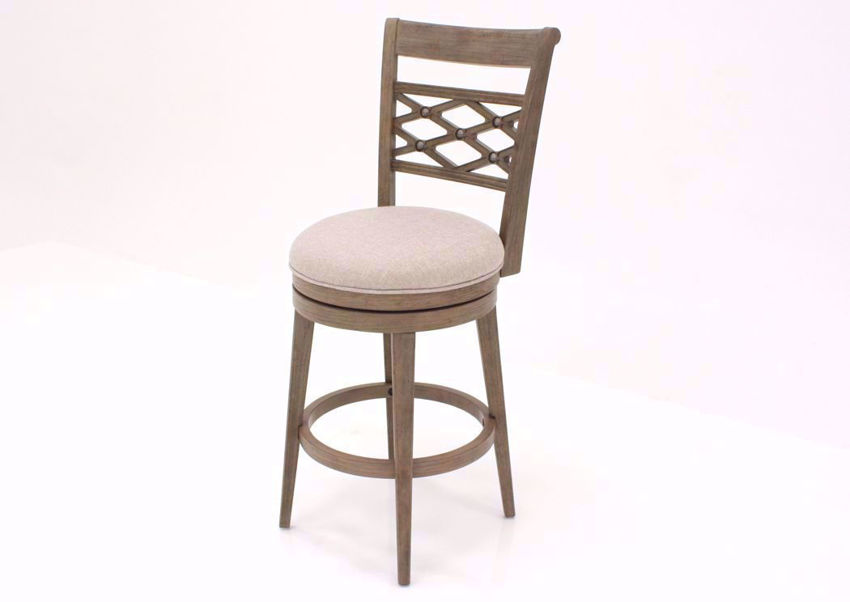 Gray with Beige Chesney Swivel Barstool 30 Inch at an Angle | Home Furniture Plus Mattress