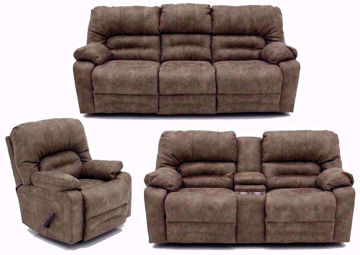 Light Tan Legacy Reclining Sofa Set, Includes Sofa, Loveseat and Recliner | Home Furniture Plus Mattress