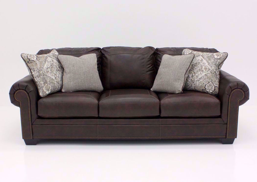 Walnut Brown Roleson Sofa by Ashley Furniture, Front Facing | Home Furniture Plus Bedding