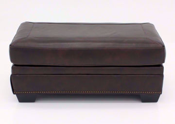 Walnut Brown Roleson Ottoman by Ashley, Front Facing | Home Furniture Plus Bedding