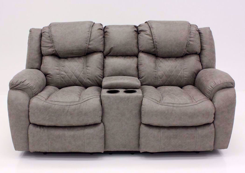 Soft Brown Daytona Reclining Loveseat, Front Facing | Home Furniture Plus Bedding