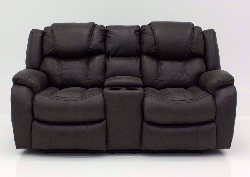 Gray Daytona Reclining Loveseat, Front Facing | Home Furniture Plus Bedding