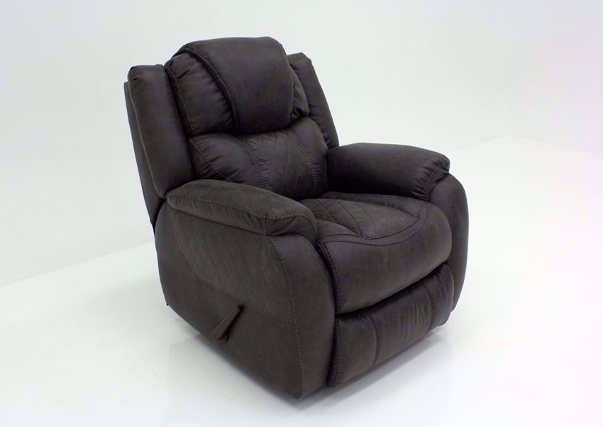 Steel Gray Daytona Recliner at an Angle | Home Furniture Plus Bedding