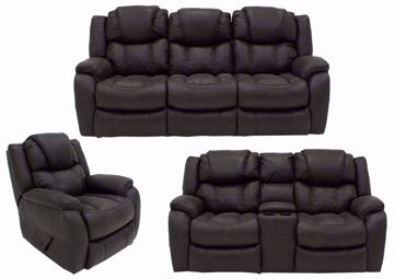 Steel Gray Daytona Reclining Sofa Set Group Including Sofa, Loveseat and Recliner | Home Furniture Plus Bedding