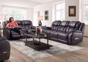 Steel Gray Daytona POWER Reclining Sofa Set in a  Room Setting | Home Furniture Plus Bedding