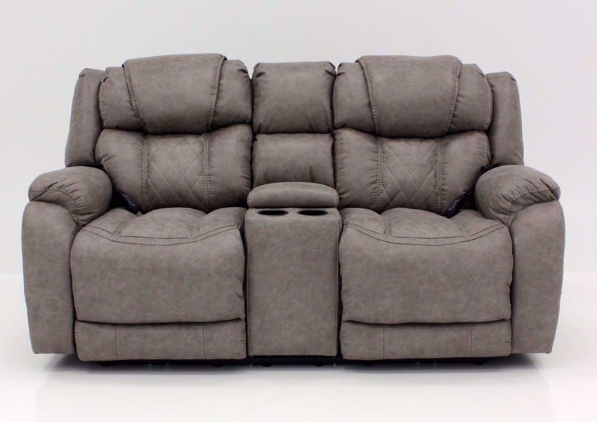 Soft Brown Daytona POWER Reclining Loveseat, Front Facing | Home Furniture Plus Bedding