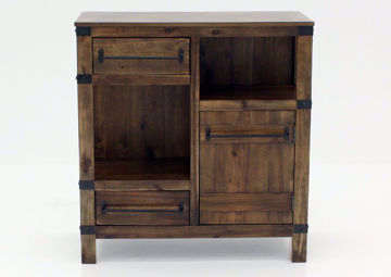 Rustic Brown Roybeck Accent Cabinet Facing Front | Home Furniture Plus Bedding