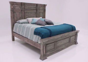 Maverick Queen Size Bed, Gray, Angle | Home Furniture Plus Bedding