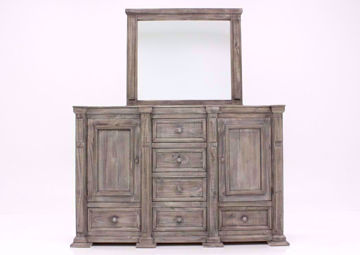 Weathered Gray Maverick Dresser with Mirror Facing Front | Home Furniture Plus Bedding