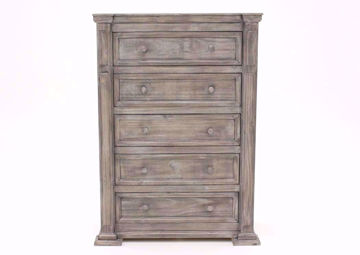 Maverick Chest of Drawers, Gray, Front Facing | Home Furniture Plus Bedding