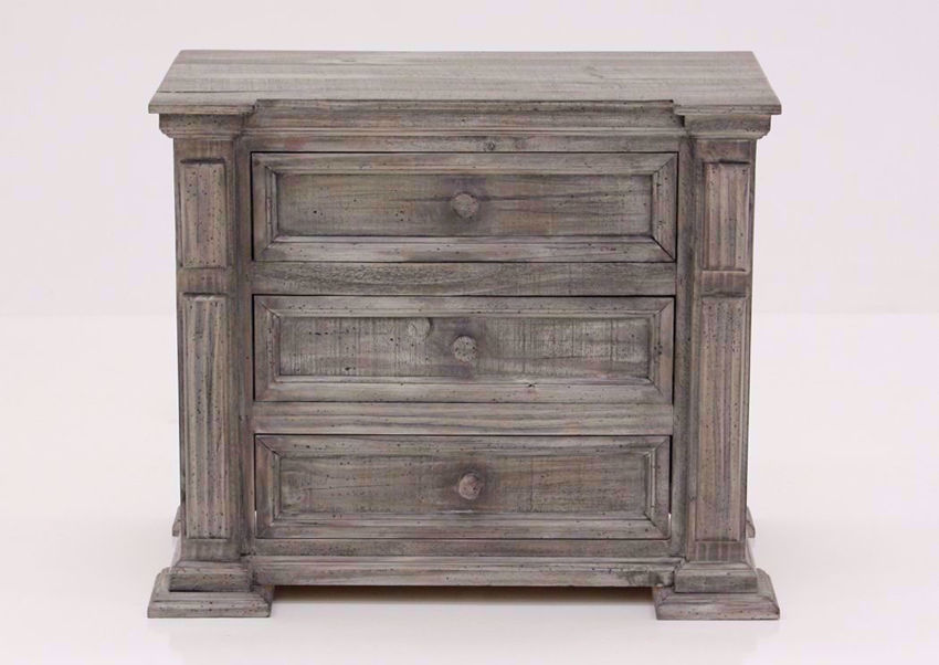 Weathered Gray Maverick Nightstand Facing Front | Home Furniture Plus Mattress