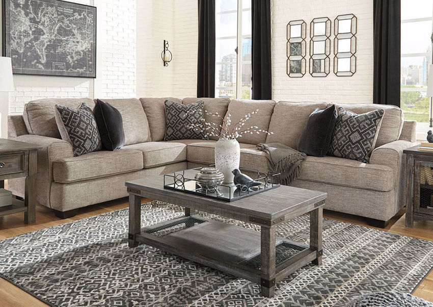 Brown Bovarian Sectional Sofa - Right Facing by Ashley Furniture in Room Setting | Home Furniture Plus Bedding