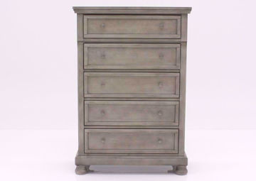 Distressed Light Gray Lettner Chest of Drawers by Ashley Furniture Facing Front | Home Furniture Plus Bedding