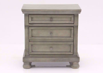 Light Gray Lettner Nightstand by Ashley Furniture Facing Front | Home Furniture Plus Mattress