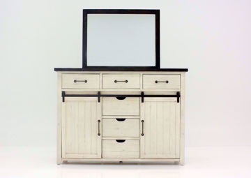 Madison County Dresser with Mirror, White, Front Facing | Home Furniture Plus Bedding