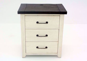 Antique White Madison County Nightstand Facing Front | Home Furniture Plus Mattress