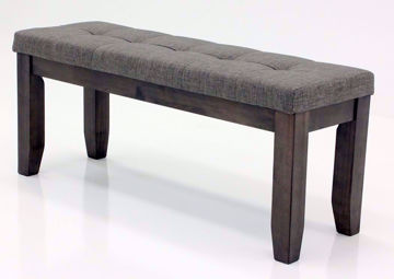 Gray Bardstown Dining Bench at an Angle | Home Furniture Plus Bedding