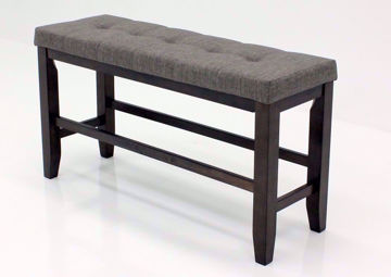 Dark Gray Bardstown Bar Height Dining Bench at an Angle | Home Furniture Plus Mattress